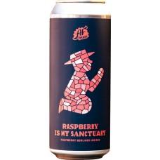 Напиток пивной AF BREW Raspberry is my Sanctuary нефильтрованный неосветленный, 5,3%, 0.5л, Россия, 0.5 L