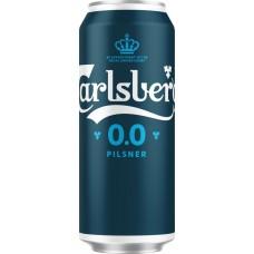 Напиток пивной безалкогольный CARLSBERG 0.0 Pilsner пастер. алк. не более 0,5% ж/б, Россия, 0.45 L