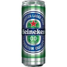 Напиток пивной безалкогольный HEINEKEN 0.0 пастеризованный, 0%, ж/б, 0.43л, Россия, 0.43 L