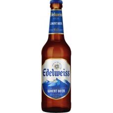 Напиток пивной EDELWEISS Пшеничное нефильтрованный пастеризованный осветленный, 4,9%, 0.45л, Россия, 0.45 L