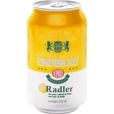 Напиток пивной EMDBRAU Radler пастер. фильтр.алк.2,2% ж/б, Испания, 0.33 L