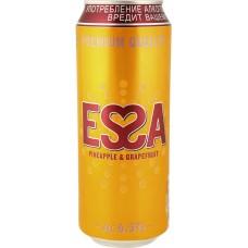 Напиток пивной ESSA со вкусом и ароматом Ананаса грейпфрута пастер.алк.6,5% ж/б, Россия, 0.5 L