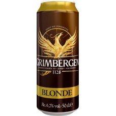Напиток пивной GRIMBERGEN Blonde фильтрованный, пастеризованный, 6,7%, ж/б, 0.5л, Польша, 0.5 L