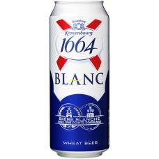 Напиток пивной KRONENBOURG 1664 Blanc ароматизированный, 4,5%, ж/б, 0.45л, Россия, 0.45 L