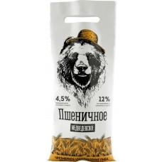 Напиток пивной МЕДВЕДЕВСКОЕ пшеничный нефильтрованный непастеризованный неосветленный 4,5%, 1.4л, Россия, 1.4 L