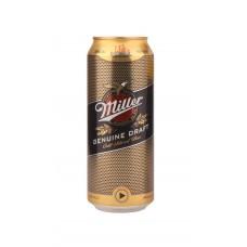 Напиток пивной MILLER Миллер GD светлое алк.4,7% ж/б, Россия, 0.5 L