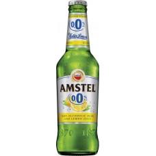 Напиток пивной светлый безалкогольный AMSTEL Lemon нефильтрованный, не более 0,3%, 0.45л, Россия, 0.45 L