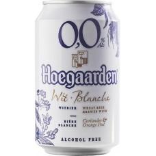 Напиток пивной светлый безалкогольный HOEGAARDEN светлый нефильтрованный пастеризованный, 0,5%, ж/б, 0.33л, Бельгия, 0.33 L