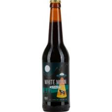 Напиток пивной темный WHITE MOON Stout нефильтрованный, 5,5%, 0.5л, Россия, 0.5 L