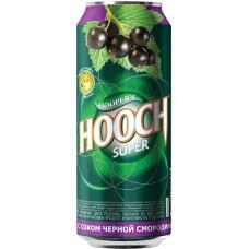 Напиток слабоалкогольный HOOCH Super со вкусом черной смородины пастеризованный, 7,2%, ж/б, 0.45л, Россия, 0.45 L