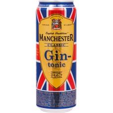 Напиток слабоалкогольный MANCHESTER Джин-тоник классический, 7,2%, ж/б, 0.45л, Россия, 0.45 L