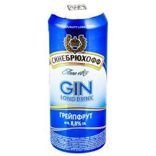 Напиток слабоалкогольный SINEBRYCHOFF Gin Grapefruit, 8.8%, ж/б, 0.5л, Россия, 0.5 L