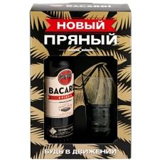 Напиток спиртной BACARDI Spiced, 40%, п/у + стакан, 0.7л, Италия, 0.7 L