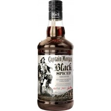 Напиток спиртной CAPTAIN MORGAN Black Spiced на основе рома, 40%, 0.7л, Великобритания, 0.7 L