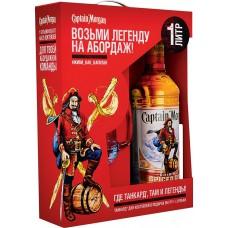 Напиток спиртной CAPTAIN MORGAN Original Spiced Gold на основе рома алк.35% + кружка, Великобритания, 1 L