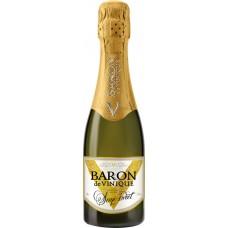 Напиток винный BARON DE VINIQUE газированный белый полусладкий, 0.2л, Россия, 0.2 L