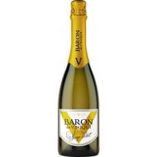 Напиток винный BARON DE VINIQUE газированный белый полусладкий, 0.75л, Россия, 0.75 L