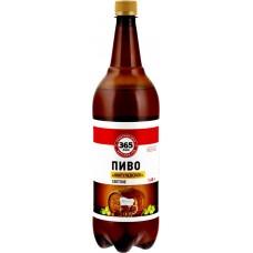 Пиво 365 ДНЕЙ Жигулевское светлое паст. фильтр. алк.4,5% ПЭТ, Россия, 1.45 L