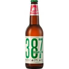 Пиво светлое 387 Особая варка пастеризованное, 6,8%, 0.45л, Россия, 0.45 L