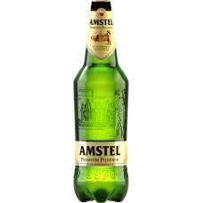 Пиво светлое AMSTEL Premium pilsener, 4,6-4,8%, ПЭТ, 1.35л, Россия, 1.35 L