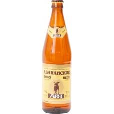 Пиво светлое АЯН Абаканское, 4,8%, 0.5л, Россия, 0.5 L