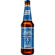 Пиво светлое БАЛТИКА 3 Классическое, 4,8%, 0.45л, Россия, 0.45 L