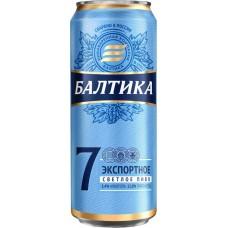 Пиво светлое БАЛТИКА 7 Экспортное, 5,4%, ж/б, 0.45л, Россия, 0.45 L