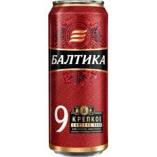 Пиво светлое БАЛТИКА 9 Экспортное Легендарное, 8%, ж/б, 0.45л, Россия, 0.45 L