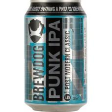Пиво светлое BREWDOG Punk Ipa фильтрованное, непастеризованное, 5,6%, ж/б, 0.33л, Великобритания, 0.33 L