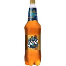 Пиво светлое GOLD MINE BEER пастеризованное, 4,6%, 1.3л, Россия, 1.3 L