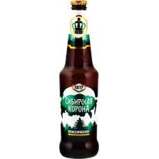 Пиво светлое СИБИРСКАЯ КОРОНА Классическое пастеризованное разливное, 5,3%, ПЭТ, 1л, Россия, 1 L