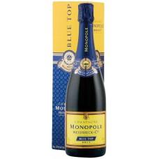Шампанское HEIDSIECK&CO MONOPOLE Blue top белое брют, п/у, 0.75л, Франция, 0.75 L