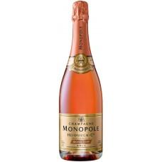 Шампанское HEIDSIECK&CO MONOPOLE Rose top розовое брют, п/у, 0.75л, Франция, 0.75 L