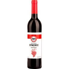 Вино 365 ДНЕЙ столовое красное полусладкое, 0.7л, Россия, 0.7 L