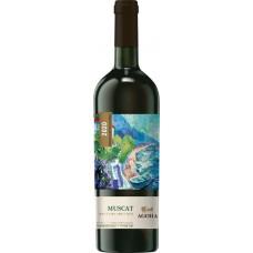 Вино AGORA Мускат белое полусладкое, 0.75л, Россия, 0.75 L
