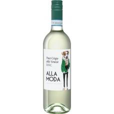 Вино ALLA MODA Пино Гриджио Делле Венеция Венето DOC белое сухое, 0.75л, Италия, 0.75 L
