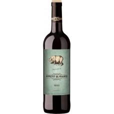 Вино APPETIT DE FRANCE Мерлостоловое красное сухое, 0.75л, Франция, 0.75 L