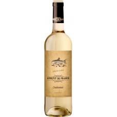 Вино APPETIT DE FRANCE Шардоне столовое белое сухое, 0.75л, Франция, 0.75 L