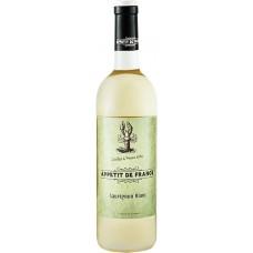 Вино APPETIT DE FRANCE Совиньон Блан столовое белое сухое, 0.75л, Франция, 0.75 L
