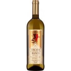 Вино ARETINO TIPICI TOSCANA BIANCO IGT Аретино Типичи Тоскана Бьянко защ. геогр. указ. белое сухое, 0.75л, Италия, 0.75 L