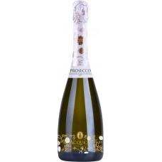 Вино игристое ACQUESI Prosecco Венето DOC белое брют, 0.75л, Италия, 0.75 L