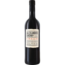 Вино ликерное ALEXANDRO SHERRY Cream белое сладкое, 0.75л, Испания, 0.75 L