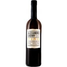 Вино ликерное ALEXANDRO SHERRY Fino белое сухое, 0.75л, Испания, 0.75 L