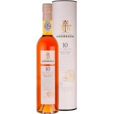 Вино ликерное ANDRESEN PORTO WHITE 10 лет DOC, п/у, 0.5л, Португалия, 0.5 L