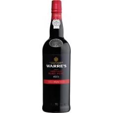 Вино ликерное WARRE'S HERITAGE RUBY PORT Дору Порто DOC красное, 0.75л, Португалия, 0.75 L